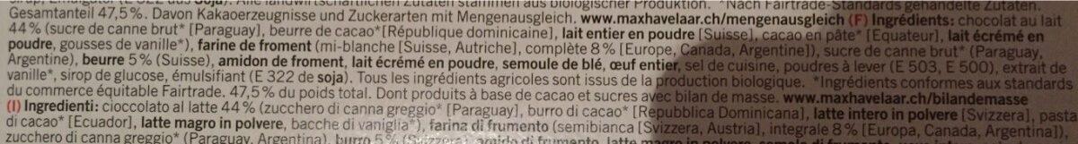 Petit Beurre au chocolat - Ingrédients - fr