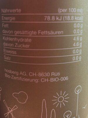 Bio Kraststoff - Informations nutritionnelles - en