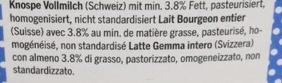 Past lait - Ingredienti - fr
