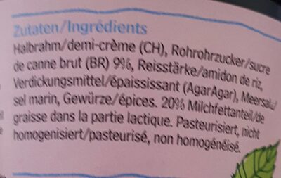 Biomilk Panna Cotta Classica - Ingrédients - fr