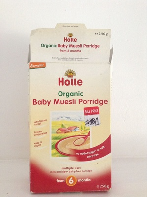 Organic baby muesli porridge - Produit - en