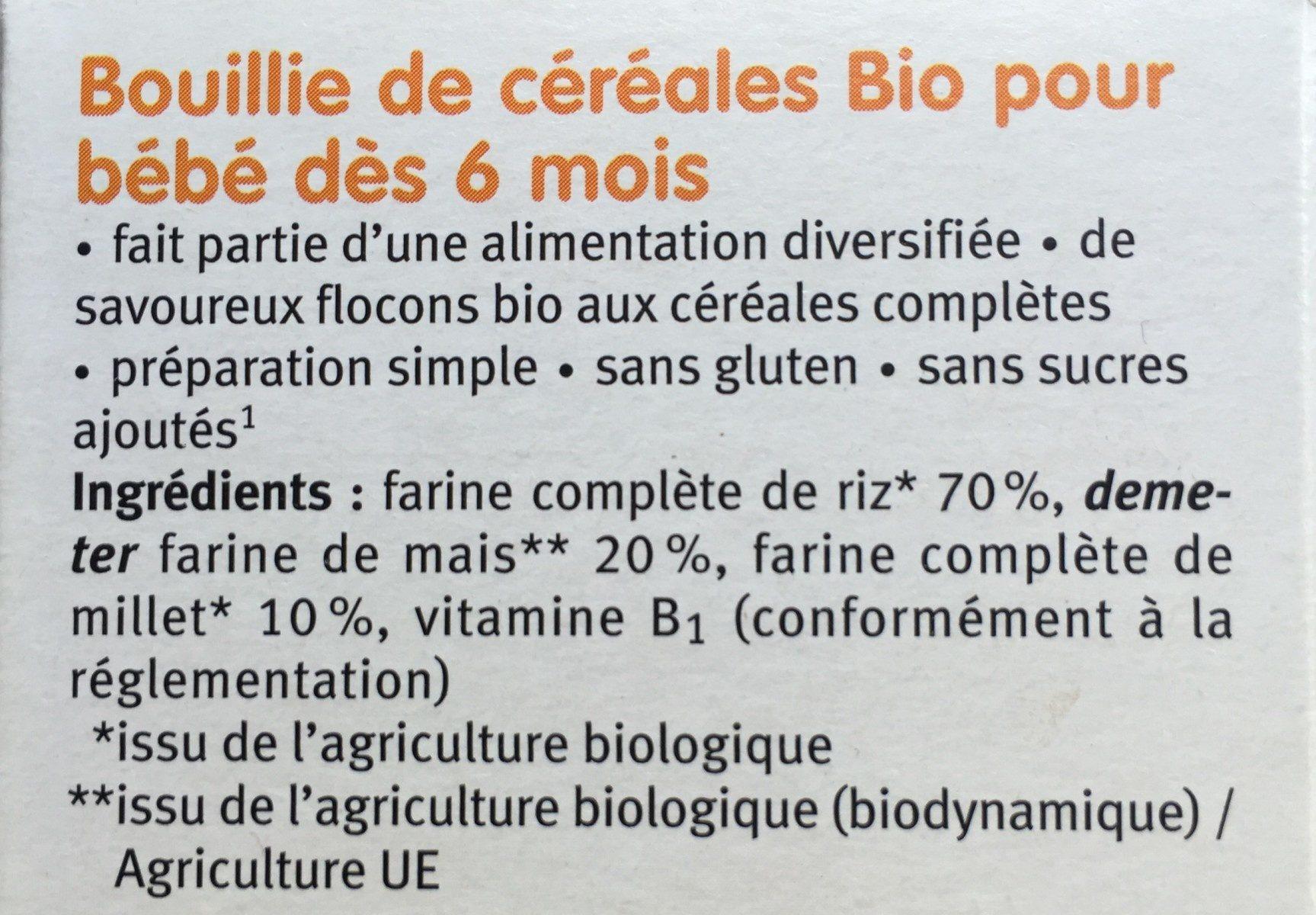 3 céréales BIO - Ingredients - fr