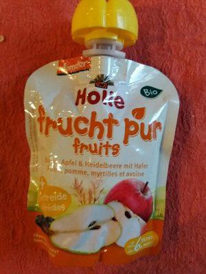 Gourde Poire Pomme Myrtille Avoine - Produit
