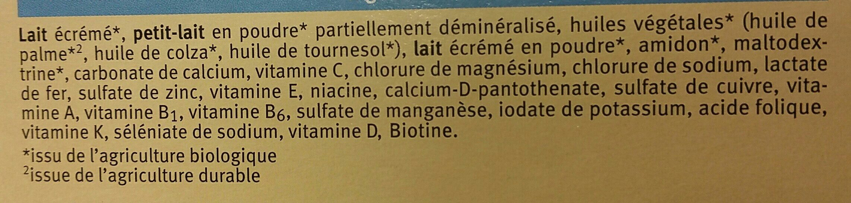 Lait De Croissance 4 Bio - 600G - Holle - Ingrédients - fr