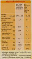 Biscottes bio pour bébé - Nutrition facts