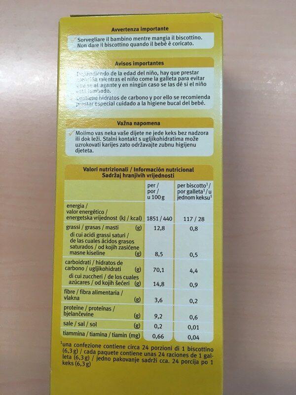 Galletas de espelta ecológicas para bebés eco - Información nutricional - es