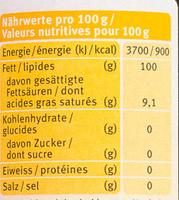 Bio Baby-Beikost-Öl - Nutrition facts