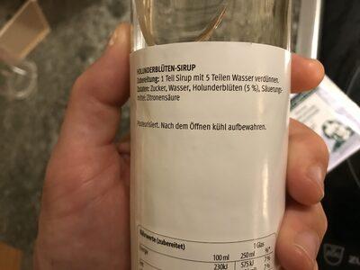 Holunderblütensirup - Ingredients - de