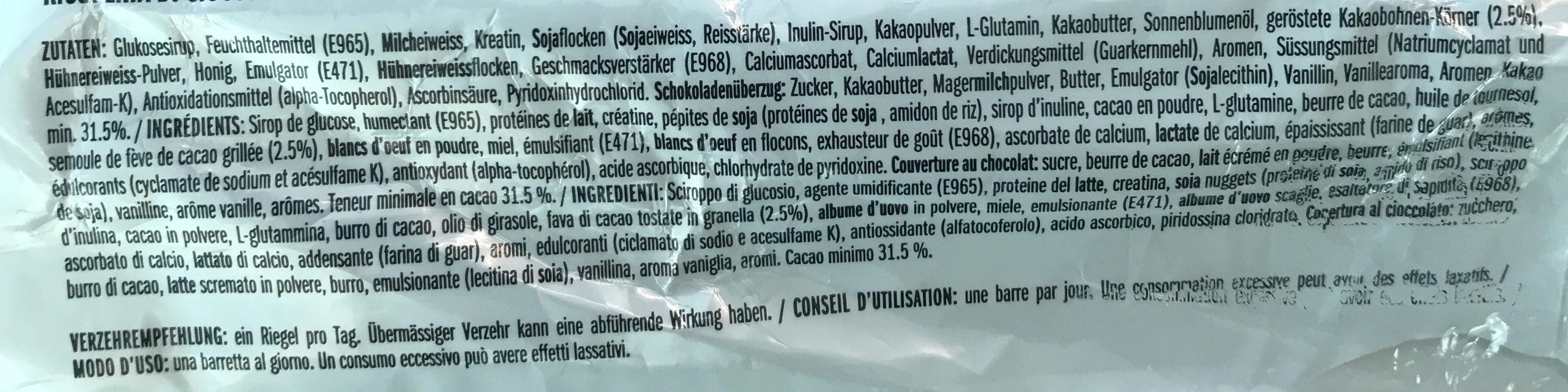 X Protein Bar - Ingrediënten