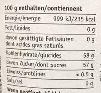 Confiture Miger fraise - Nutrition facts