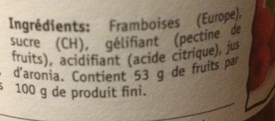 Ottiger Himbeer-konfitüre - Ingredienti - fr