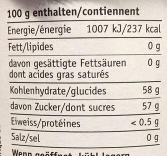Fraises-Rhubarbe - Nutrition facts