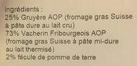 Fondue Magnificients - Ingredients