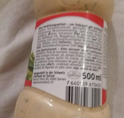 Sauce à salade tomate & basilic - Ingredients