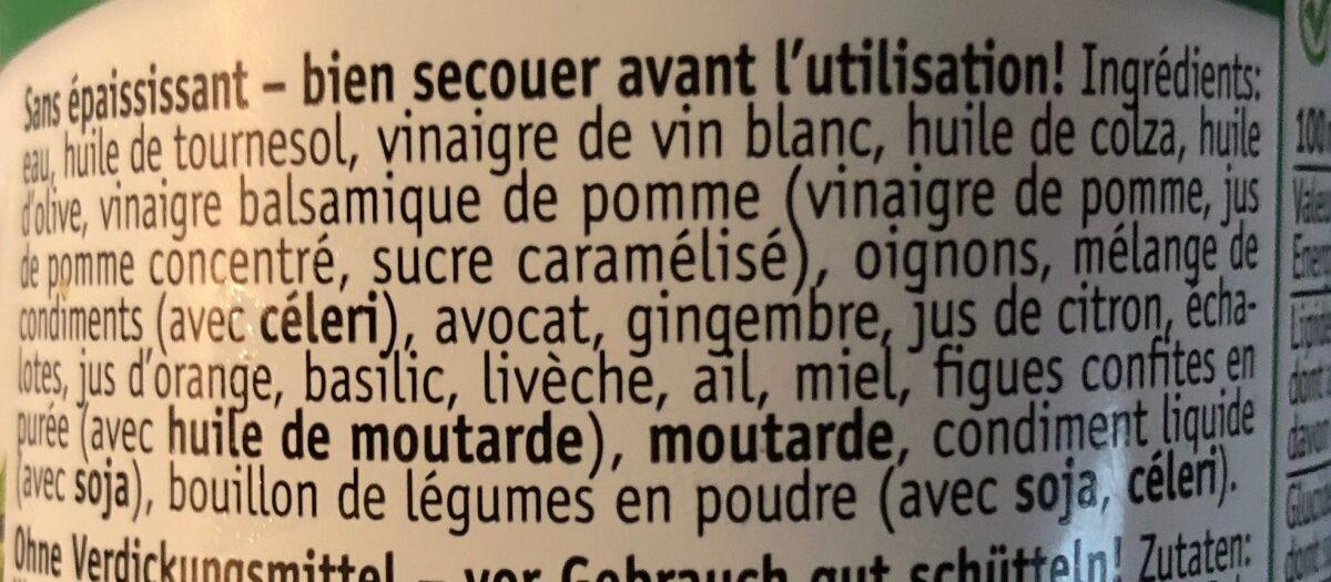 Bruno's Salatsauce - Ingrediënten - fr
