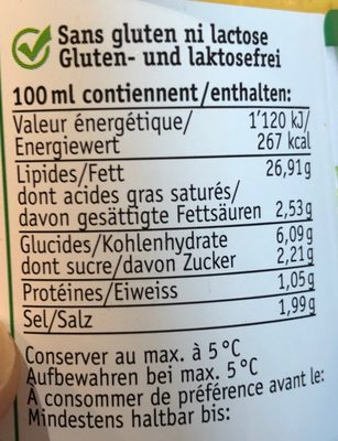 Bruno's Salatsauce - Voedingswaarden
