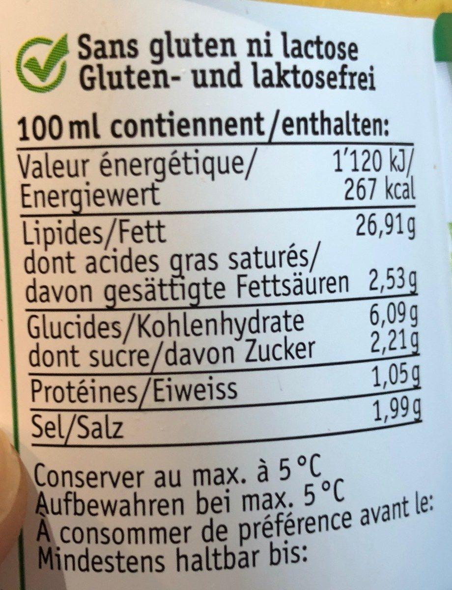 Bruno's Salatsauce - Voedingswaarden - fr