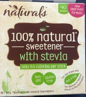 100% natural sweetener with stevia - Product