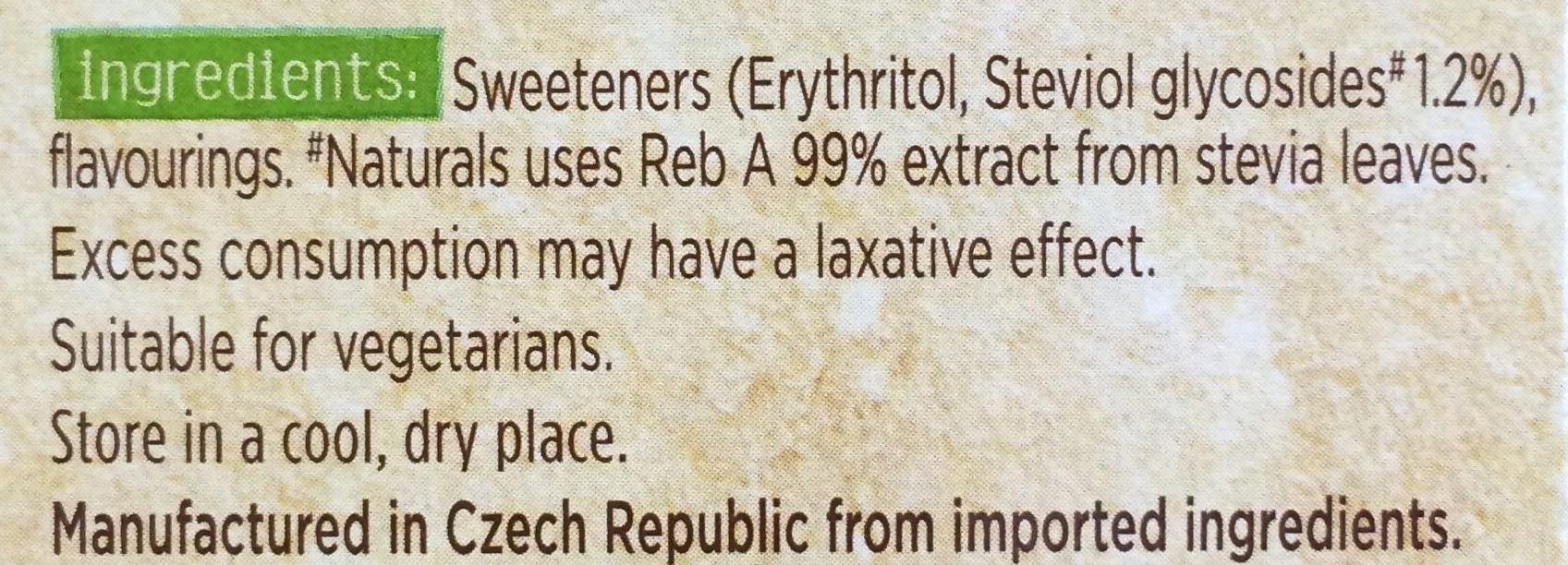 100% natural sweetener with stevia - Ingredients - en
