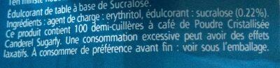 Sugarly - Ingredients - fr