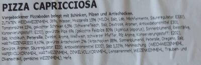 Pizza Capricciosa - Ingredients - de