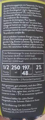 Black tea + mate - Valori nutrizionali - fr