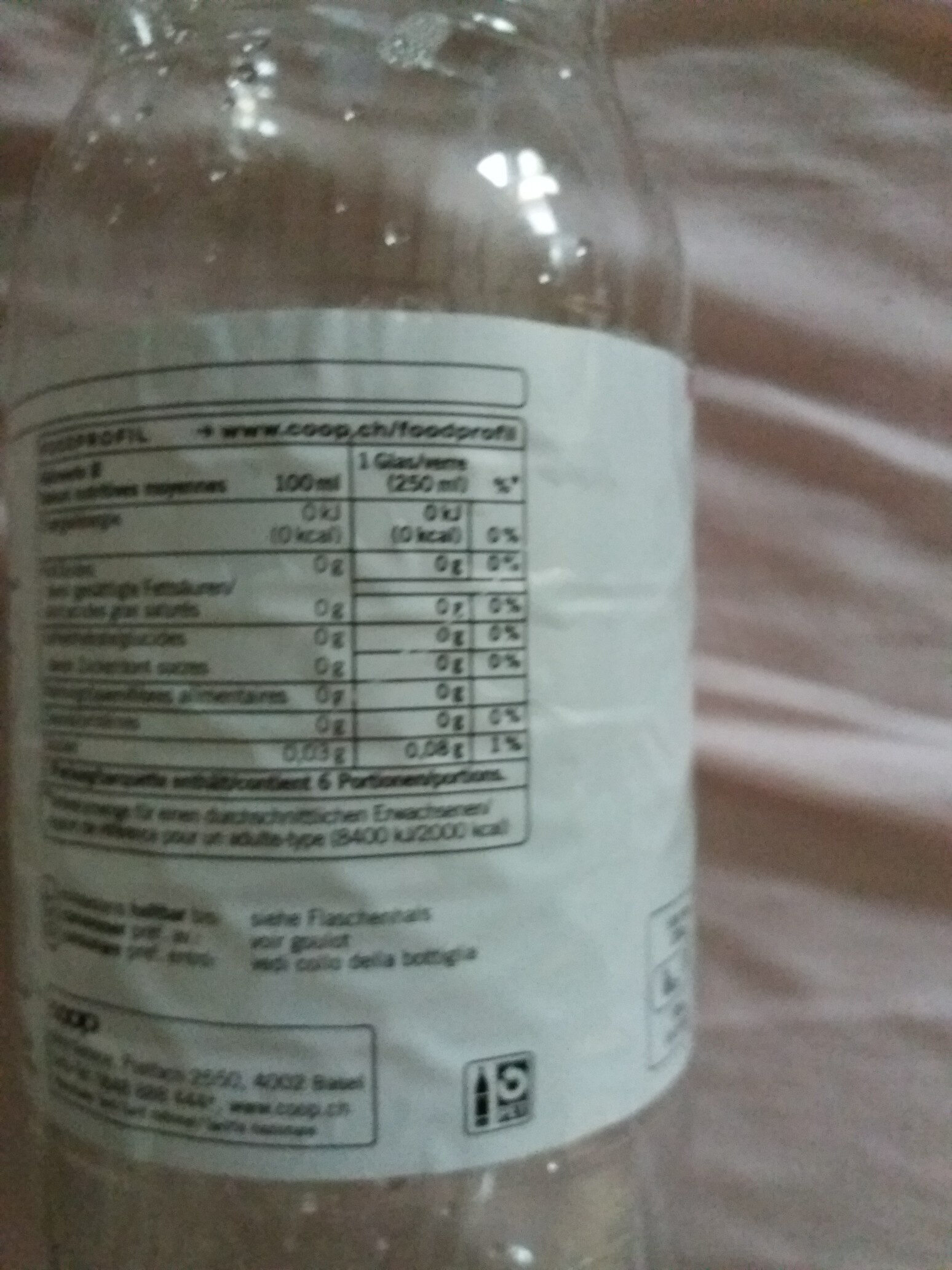 jus de citron light - Nutrition facts