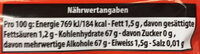 Splash with strawberry lime flavor - Valori nutrizionali - de