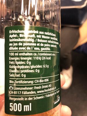 Züri Schorle - Valori nutrizionali - de