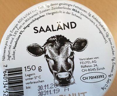 Joghurt Hazelnut Saaländ - Ingrédients - de