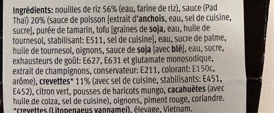 Pad Thaï Noodles & Shrimps - Ingrédients - fr