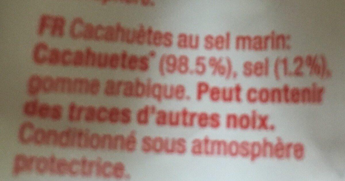 Cacahuetes Grillees Au Sel Marin - Ingrédients