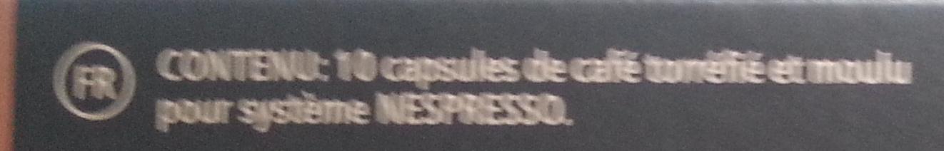 Dosettes Nespresso - Ingrédients