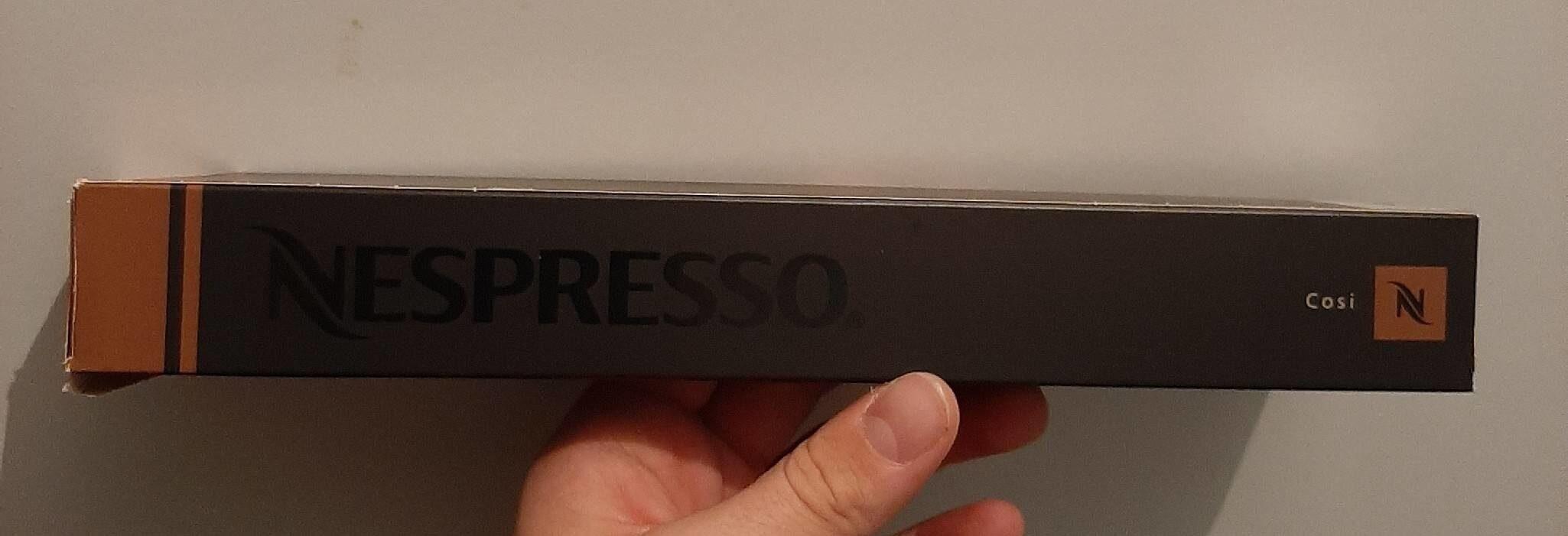 Dosettes Nespresso - Informations nutritionnelles