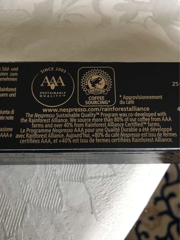 Nespresso Roma - Nutrition facts - de