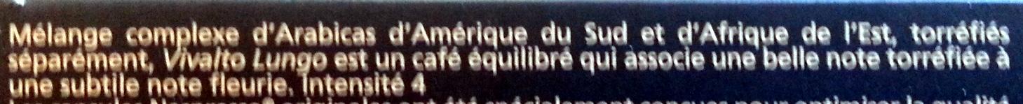 Nespresso Vivalto Lungo - Ingredients