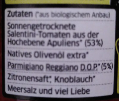 Pesto Rosso - Zutaten - de