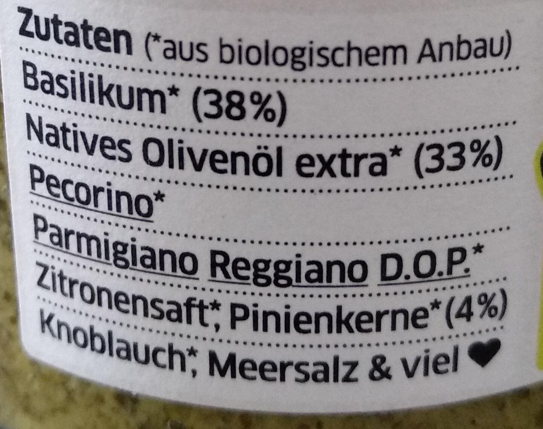 Pesto Genovese mit Pinienkernen - Ingrédients - de