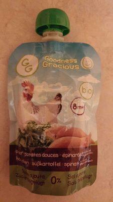 Purée d'Épinards et de Patates Douces Biologiques au Poulet avec Jus de Menthe et de Citron - Product - fr