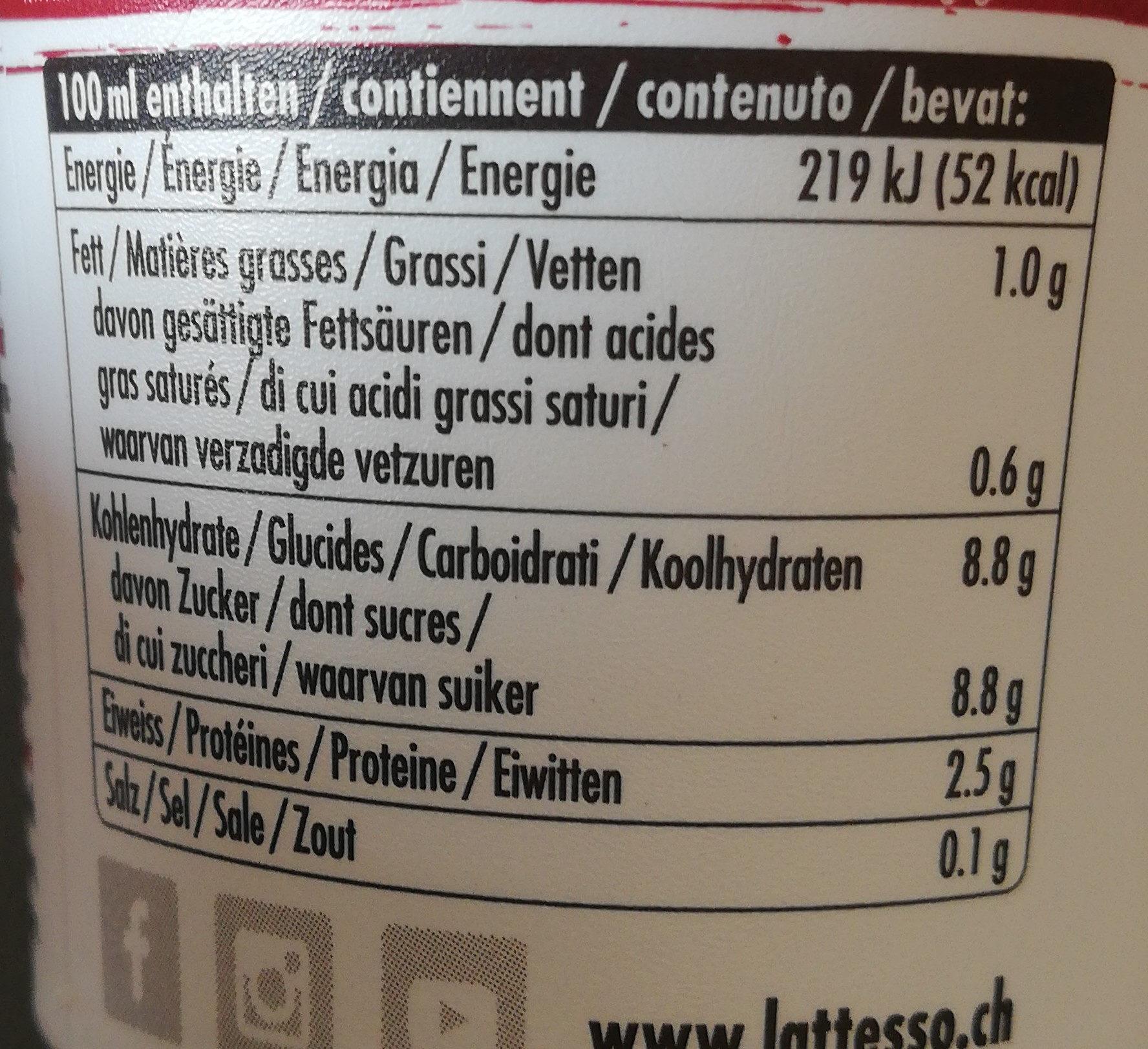 Caffè lattesso espresso - Informations nutritionnelles