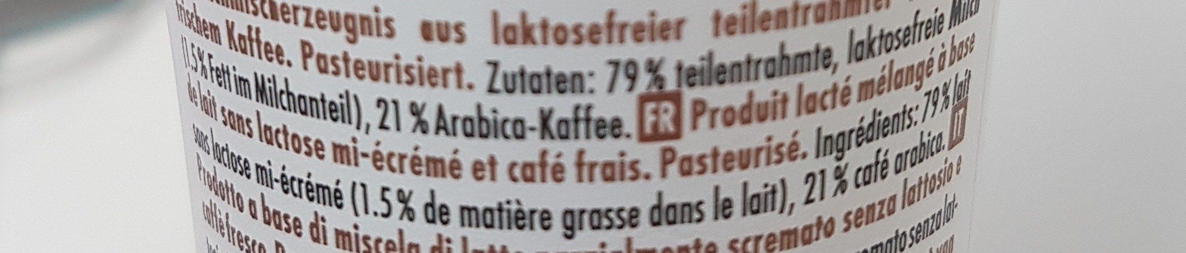 Caffè Lattesso Free - Ingrédients