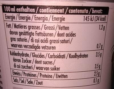 Caffè Lattesso Free - Informations nutritionnelles