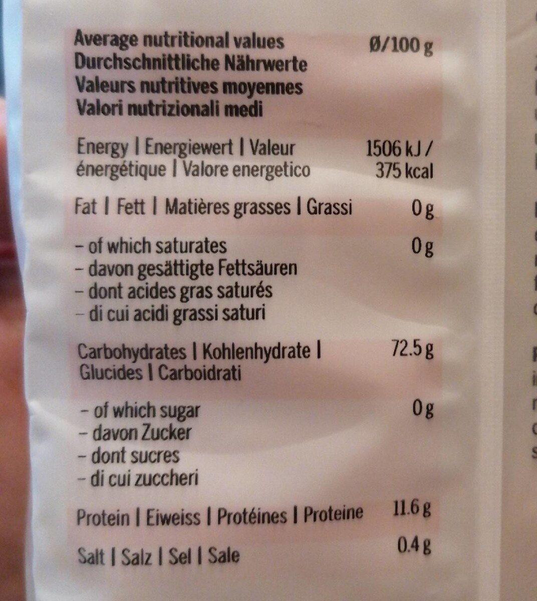 Ramen noodles - Informazioni nutrizionali - fr