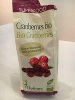 Optimys Cranberries Bio 250 g - Product