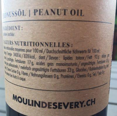 Huile de cacahuetes - Ingredients - fr