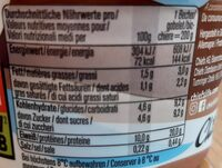 Protein Pudding Choco Mountain - Nutrition facts - fr