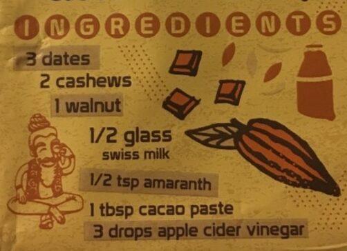Good-for-You Dessert Bar Choco-Walnut Brownie - Ingredienti - fr