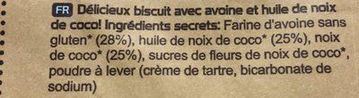 Ooh-la-la Tea Biscuits Coconut Cookie Sharing Bag - Ingredients - fr