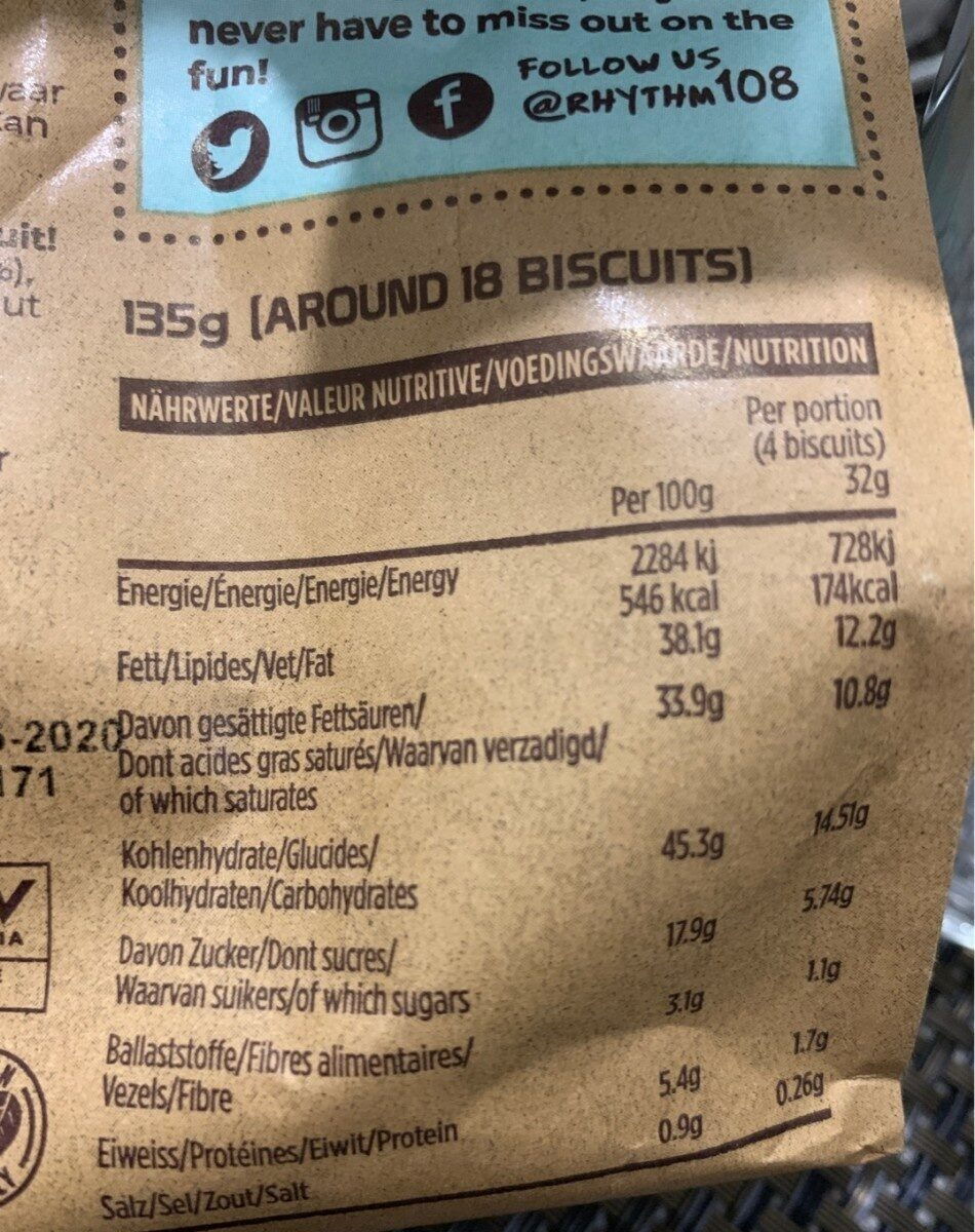 Ooh-la-la Tea Biscuits Coconut Cookie Sharing Bag - Nutrition facts - fr