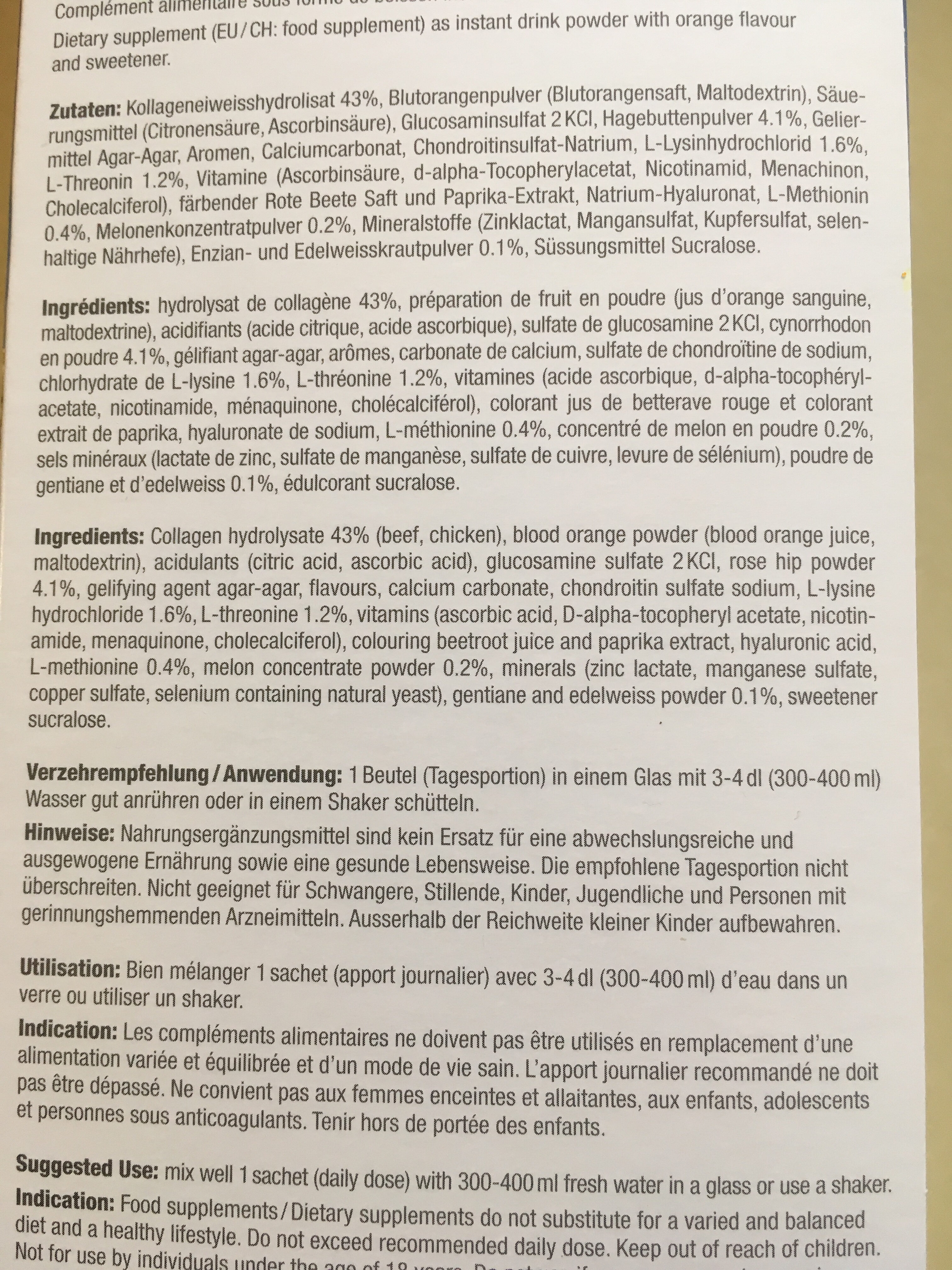 Extracellmatrix - Ingredienti - fr
